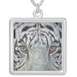 White Tiger Close Up Necklace
