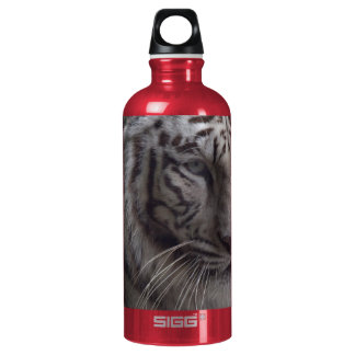 White Tiger Close-up Water Bottle