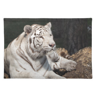 White Tiger Cloth Placemat