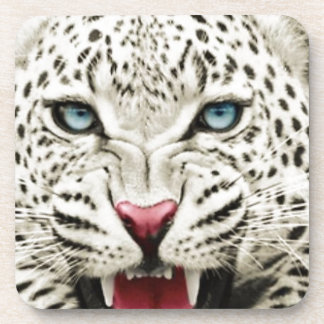white tiger beverage coasters