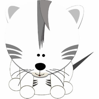 White Tiger Cub Acrylic Cut Out Magnet