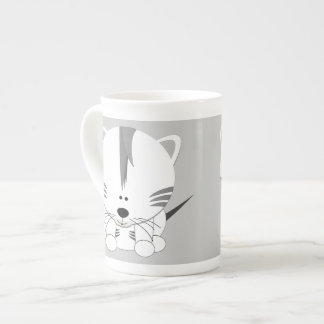 White Tiger Cub Bone China Mug