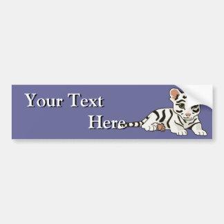 White Tiger Cub Bumper Sticker