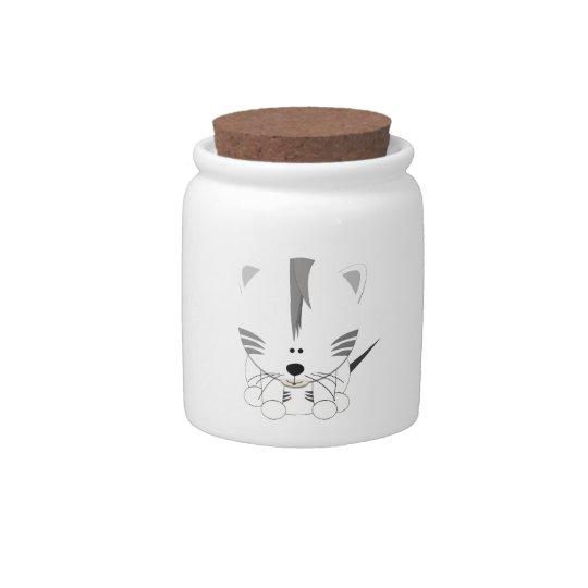 White Tiger Cub Candy Jar