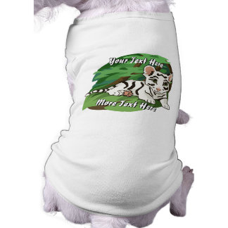 White Tiger Cub Dog Shirt
