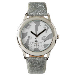 White Tiger Cub eWatchFactory Glitter Watch