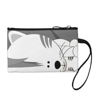 White Tiger Cub Key Coin Clutch