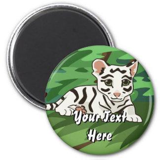 White Tiger Cub Magnet