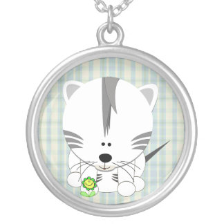 White Tiger Cub Necklace