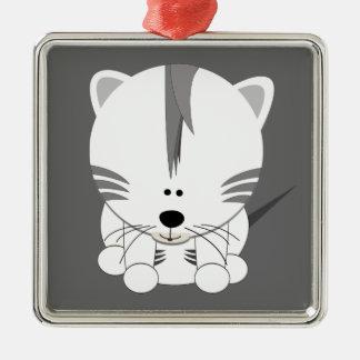White Tiger Cub Ornament