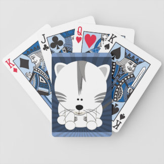 White Tiger Cub Playing Cards