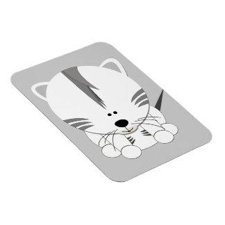 White Tiger Cub Premium Magnet
