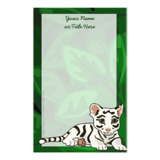 White Tiger Cub Stationery
