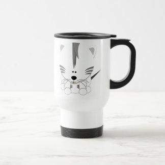 White Tiger Cub White Travel Mug