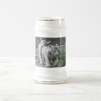White Tiger Cubs Beer Stein