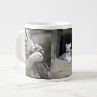 WHITE TIGER CUBS LARGE COFFEE MUG