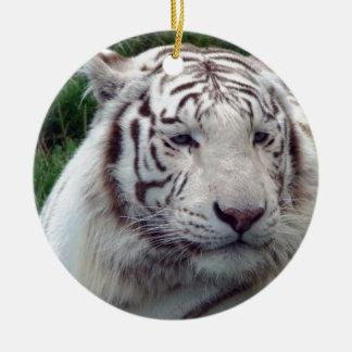 White tiger design ceramic ornament