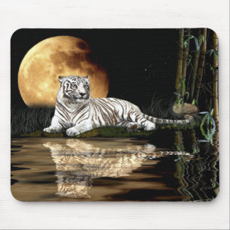 WHITE TIGER  Endangered Species Mousepad