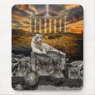 White Tiger Extinction is Forever copy Mouse Pad