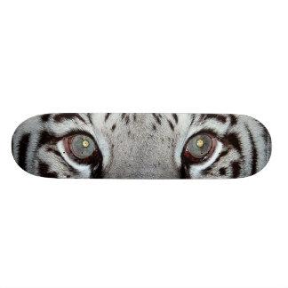 White Tiger Eyes Skateboard