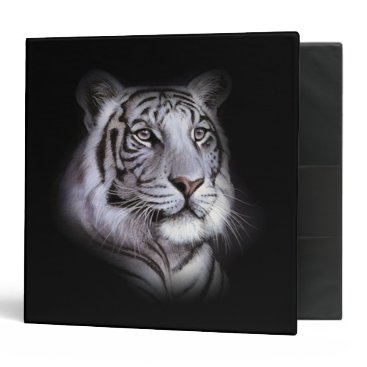 Professional Business White Tiger Face Binder