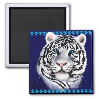 White Tiger Face Magnet