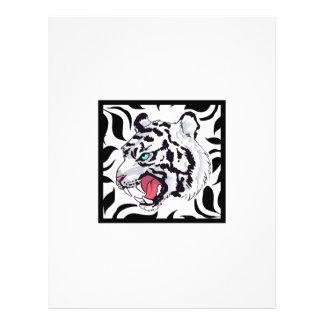 WHITE TIGER FRAMED CUSTOM LETTERHEAD