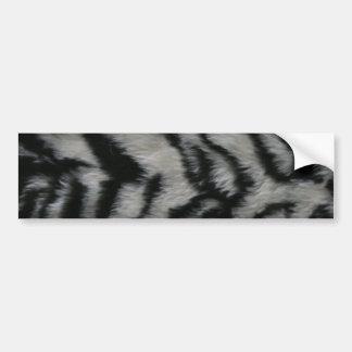 White Tiger Fur Bumper Sticker