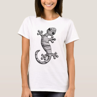 White Tiger Fur Climbing Lizard T-Shirt