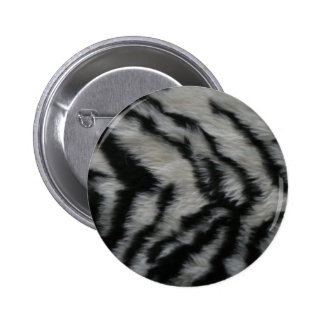 White Tiger Fur Pinback Button