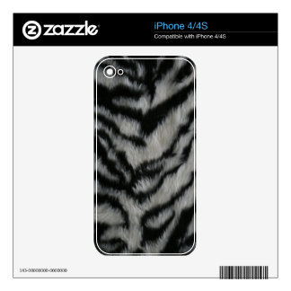 White Tiger Fur Skin For The iPhone 4S