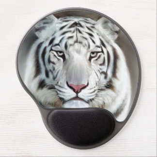 WHITE TIGER GEL MOUSE PAD