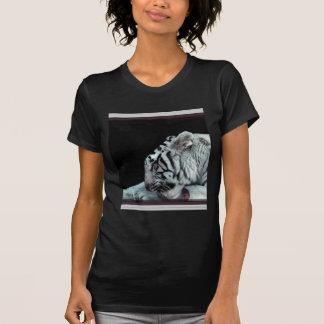 White tiger grooming tee shirt