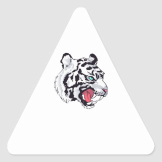 WHITE TIGER GROWL TRIANGLE STICKER