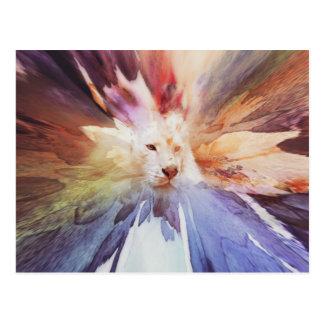 White Tiger Grunge Postcard