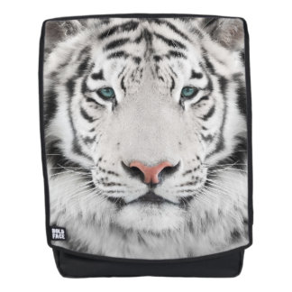 White Tiger Head Boldface Backpack