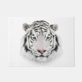White Tiger Head Doormat