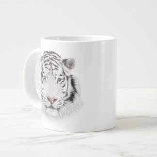 White Tiger Head Jumbo Mug