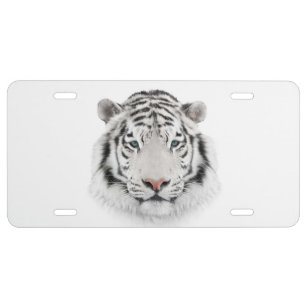Tiger Animal Eyes METAL Black License Plate Frame Tag Holder