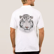 White Tiger Head Polo Shirt