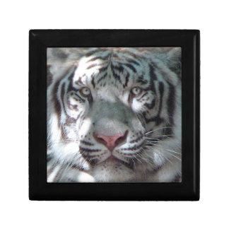 White Tiger Head Shot Jewelry Box