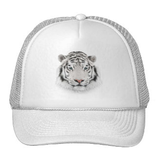 White Tiger Head Trucker Hat