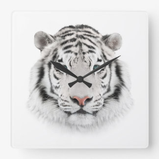White Tiger Head Wall Clock