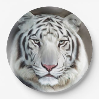 WHITE TIGER II 9 INCH PAPER PLATE