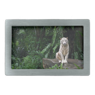 White Tiger in the Jungle Rectangular Belt Buckle