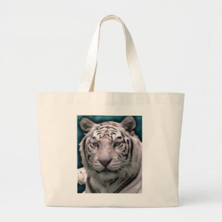White Tiger, Jumbo Tote Canvas Bags