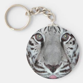 White Tiger Keychain