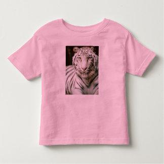 White Tiger Kid's Retro Ringer Toddler T-shirt