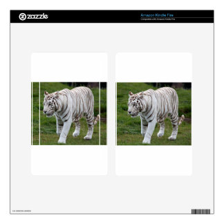White Tiger Kindle Fire Decal