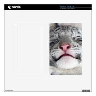 White Tiger Kitten Kindle Fire Skins